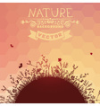 Sunset nature background vector image vector image