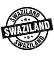 swaziland black round grunge stamp vector image vector image