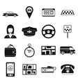 Taxi Icons set simple style vector image