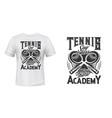 tennis academy t-shirt print mockup vector image vector image