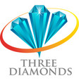 three diamond vector image vector image
