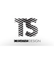 ts t s lines letter design with creative elegant vector image vector image