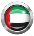 United Arab Emirates flag metal button vector image vector image
