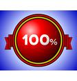 Vintage 100 sign vector image vector image