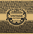 vintage flourishes vine seamless pattern vector image vector image