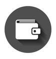 wallet icon money purse flat money bag business vector image vector image