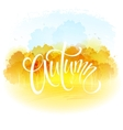 Watercolor autumn landscape vector image vector image