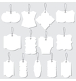 white blank labels or tags with ropes vector image vector image