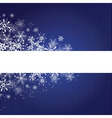 winter blue background with snowflakes vector image vector image