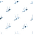 yacht icon in cartoon style isolated on white vector image