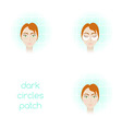 face care - using dark circles patch vector image