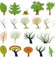 cartoon trees vector image