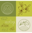 Set of olive oil logos vector image