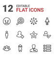 12 user icons vector image vector image