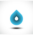 abstract blue water drop icon vector image