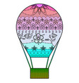 air balloon with transition colors vector image vector image