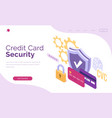 banner credit card security vector image