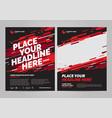 Brochure layout templat design vector image