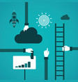 business growth or career ladder concept in flat vector image vector image