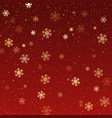 christmas background falling snowflakes vector image vector image
