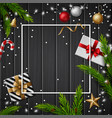 christmas gift boxes with christmas balls vector image vector image