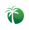 circle palm tree logo image vector image vector image
