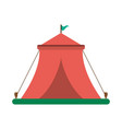 circus festival tent with flag vector image vector image