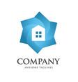 color house hexagon logo vector image vector image