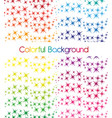 colorful stars isolated over white background vector image