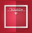 creased red sheet with a white frame and small vector image