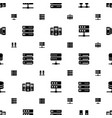 datacenter icons pattern seamless white background vector image vector image