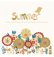 decorative card with a summer vector image