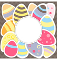 Easter eggs pattern on a brown vector image vector image