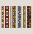 ethnic ribbon patterns set vector image vector image