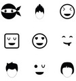 face icon set vector image vector image