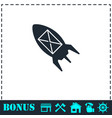flying message icon flat vector image vector image