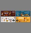 folk live instrumental music concert tickets vector image vector image