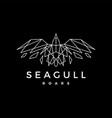 geometric seagull polygonal line outline roar vector image