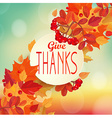 Give thanks - autumn background vector image vector image
