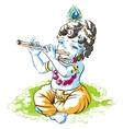 God Krishna Janmashtami Boy shepherd playing