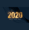 happy new year 2020 dark background with paper vector image vector image