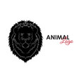 head lion icon logo symbol vector image