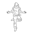 Hip-hop man dancer vector image vector image