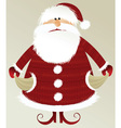 holiday background with poor santa claus vector image