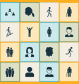 human icons set collection of ladder beloveds vector image vector image