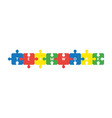icon concept of connected teamwork jigsaw puzzle vector image vector image