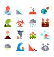 Icons Set Of Natural Disasters vector image vector image