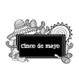 Image sombreros cactuses and maraca in cartoon vector image vector image