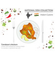 indian cuisine asian national dish collection vector image