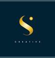 initial letter s logo design templatecrea vector image